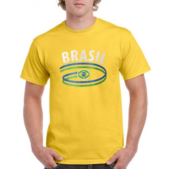 Geel heren t-shirt Brazilie
