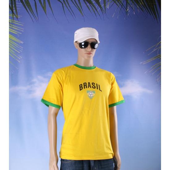Geel heren voetbalshirt Brazilie