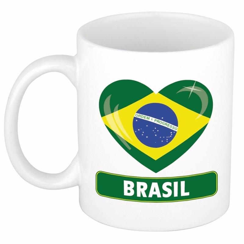 Hartje Brazilie mok / beker 300 ml