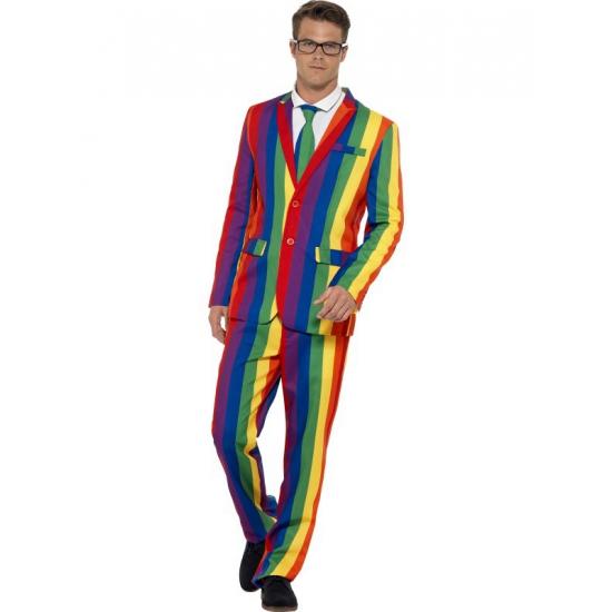 Heren kostuum regenboog