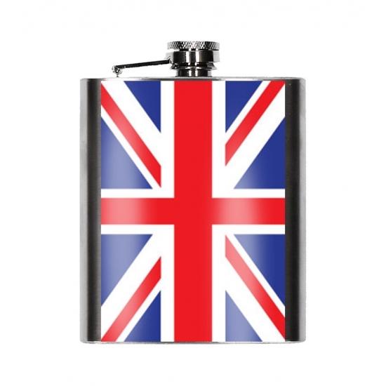 Heupfles Engelse vlag 200 ml