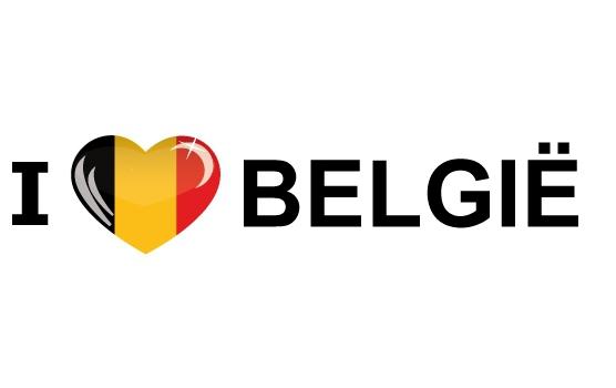 I Love Belgie sticker
