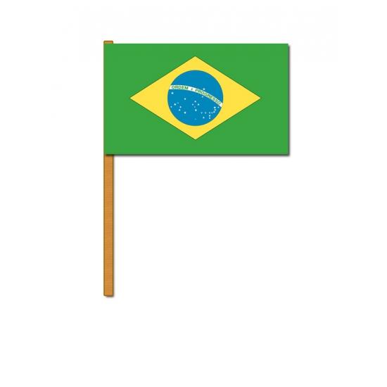 Luxe zwaaivlag Brazilie