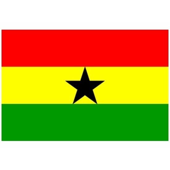 Mini vlag Ghana 60 x 90 cm