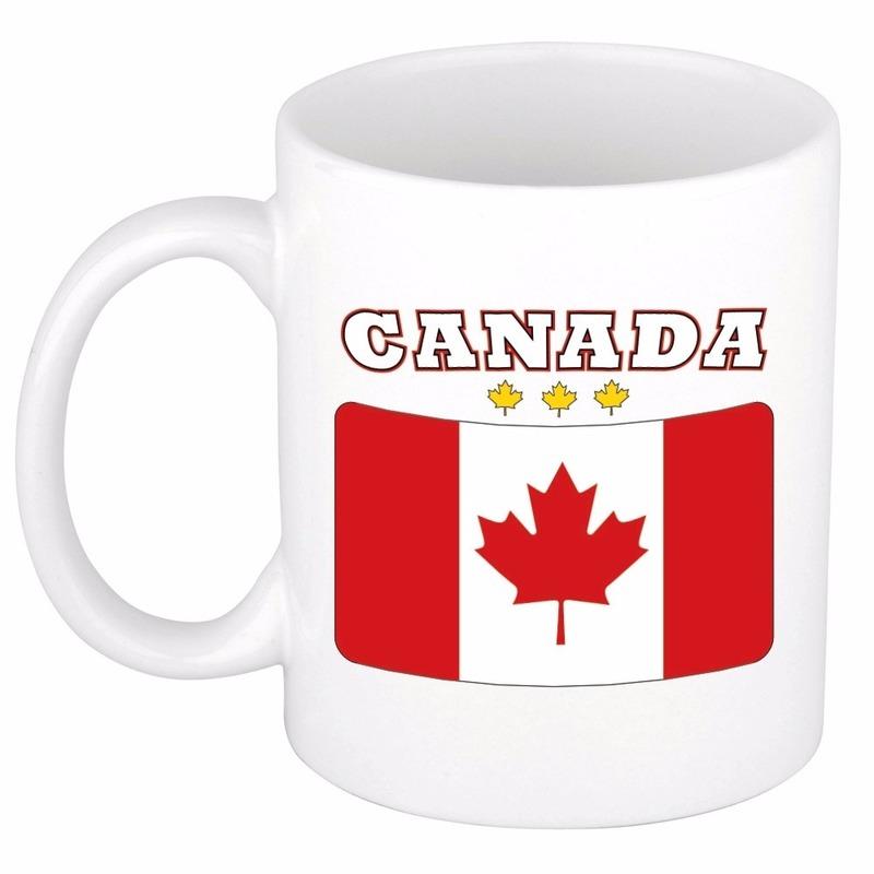 Mok / beker Canadese vlag 300 ml