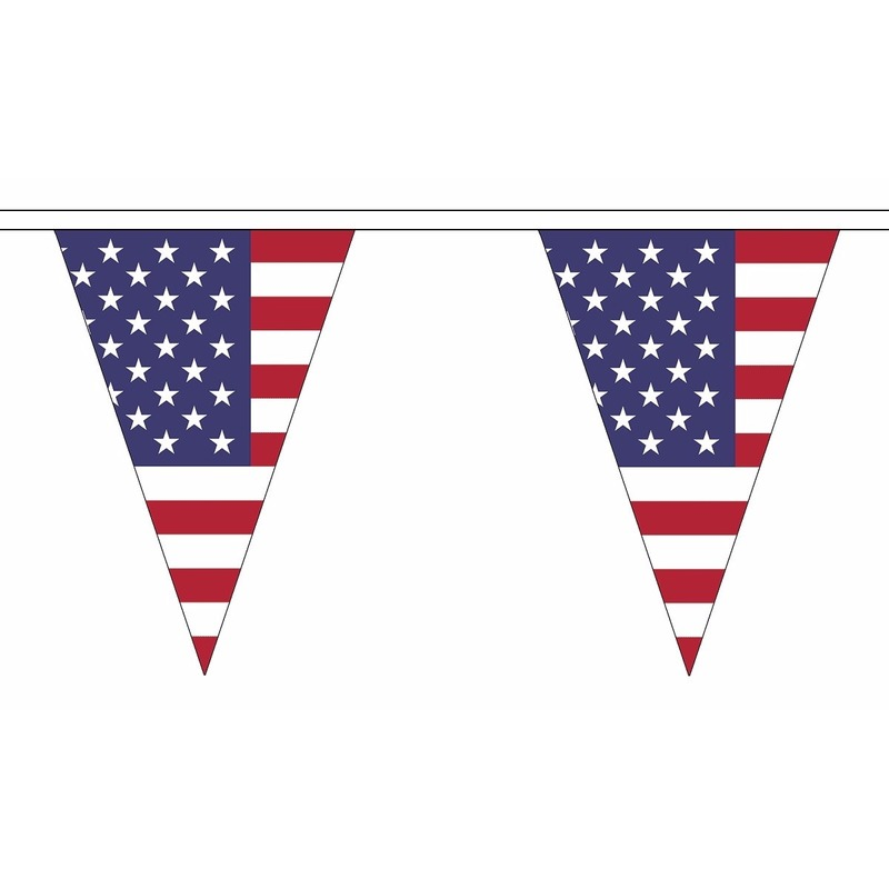 Polyester vlaggenlijn Amerika 20 meter