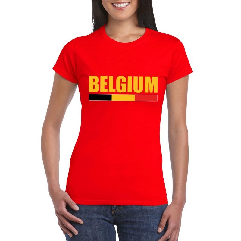 Rood Belgium supporter shirt dames