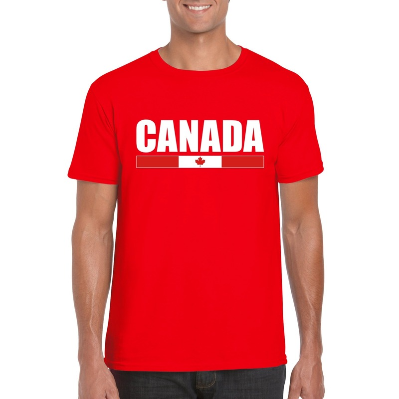 Rood Canada supporter t-shirt voor heren