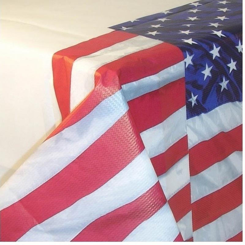 Tafelkleed Amerika van papier 137 x 259 cm