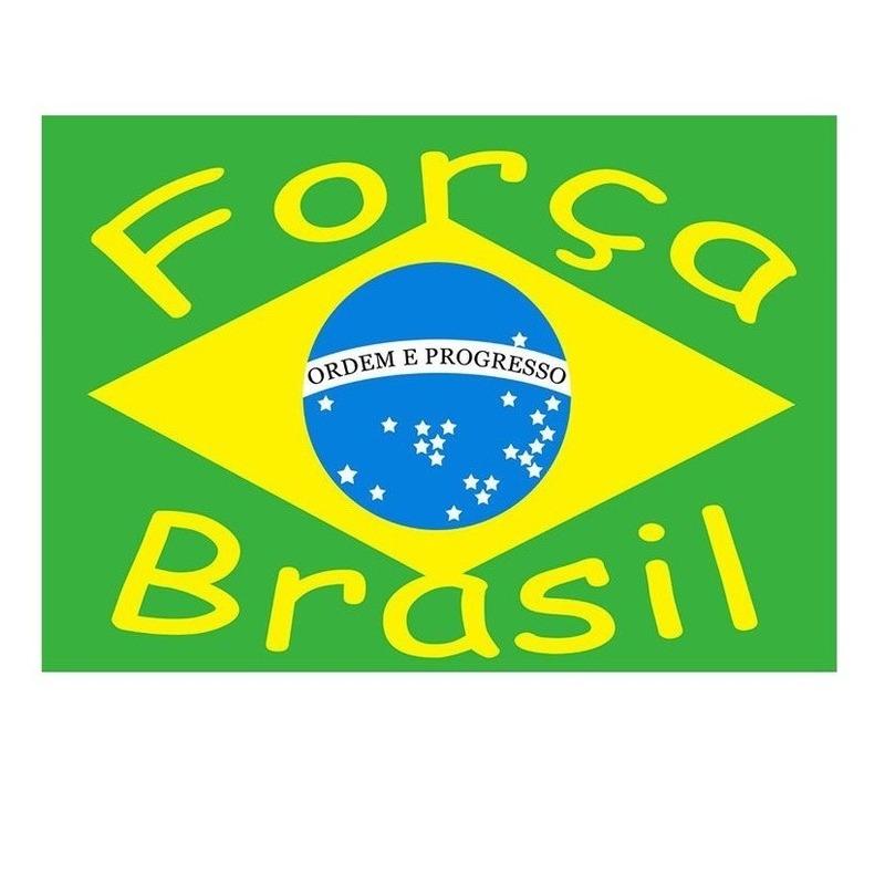 Vlag Brazilie Forca Brasil