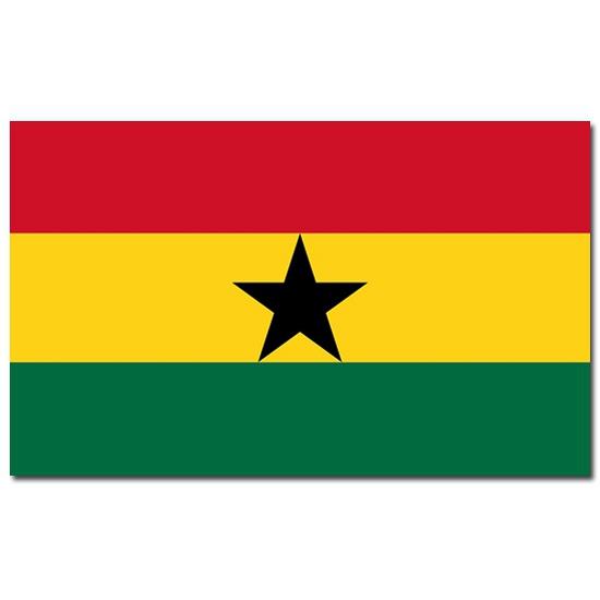 Vlag Ghana 90 x 150 cm