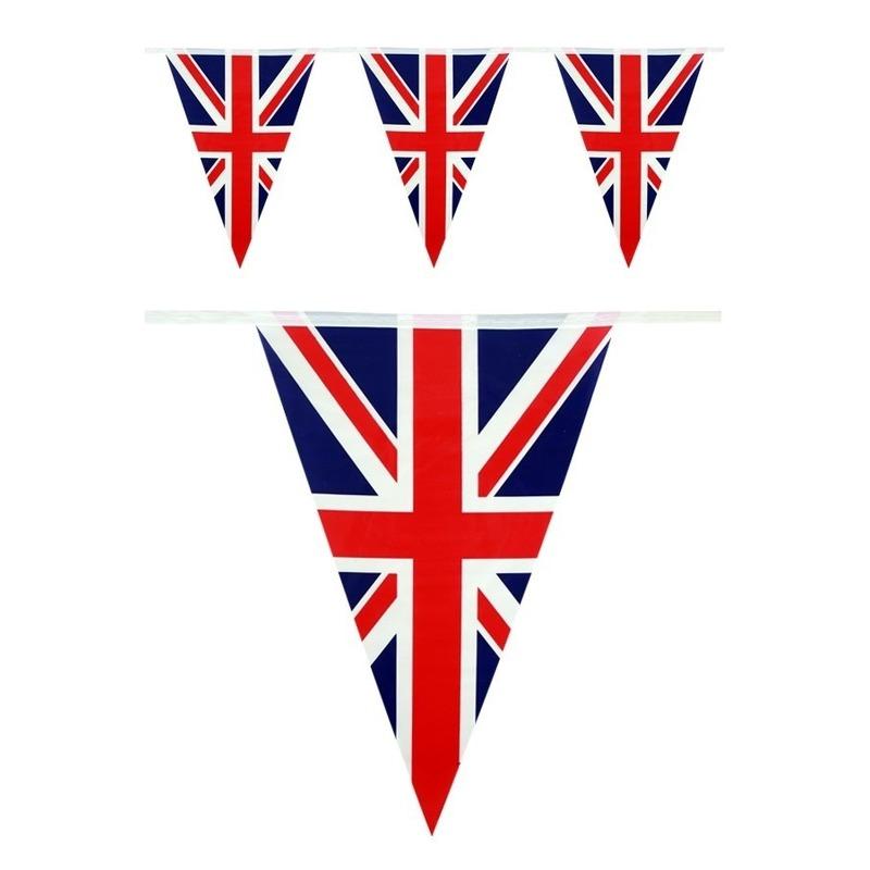 Vlaggenlijn Engeland landen thema versiering 10 meter