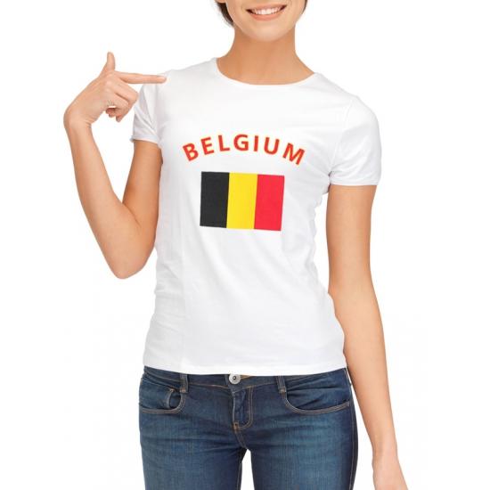 Wit dames t-shirt Belgie