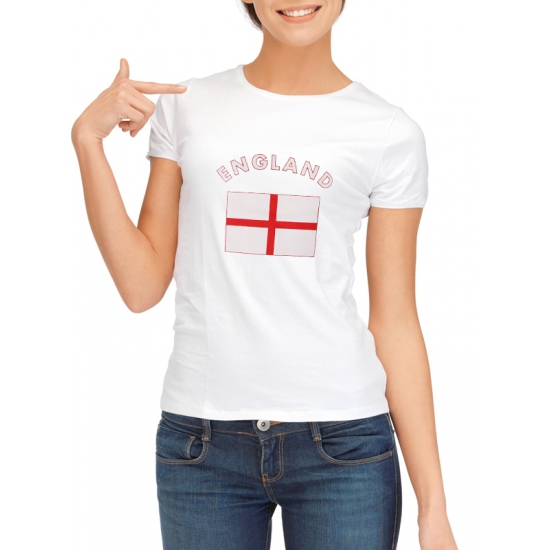 Wit dames t-shirt Engeland