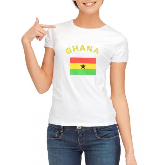 Wit dames t-shirt Ghana