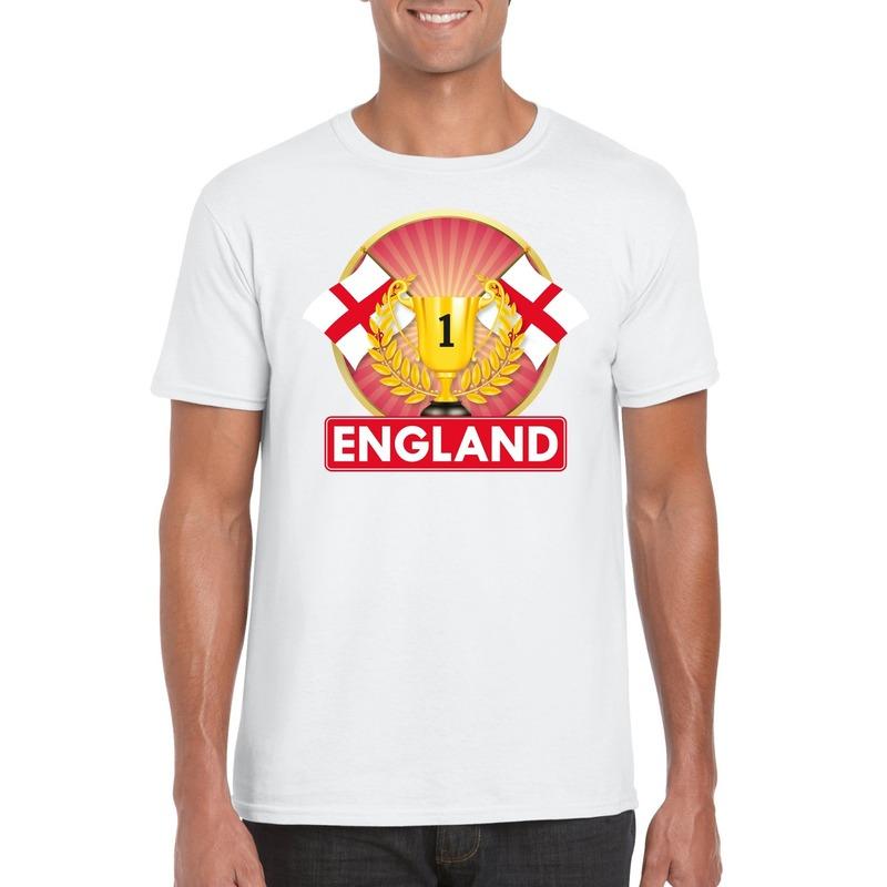 Wit Engeland supporter kampioen shirt heren