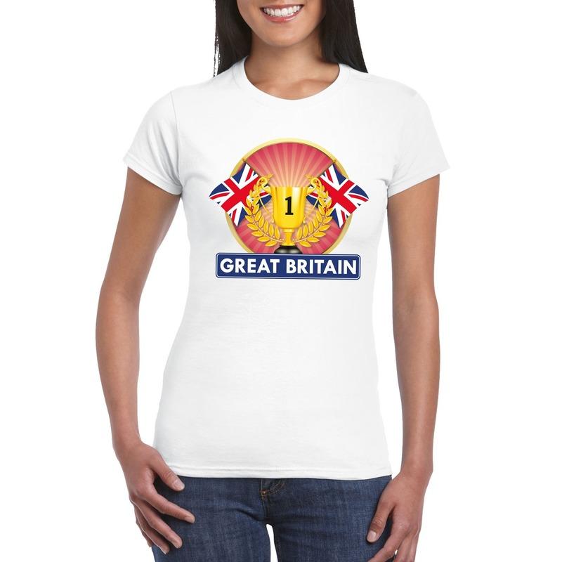 Wit Groot Brittannie/ Engeland supporter kampioen shirt dames