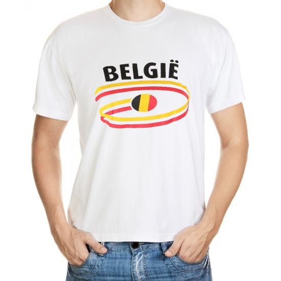 Wit heren t-shirt Belgie