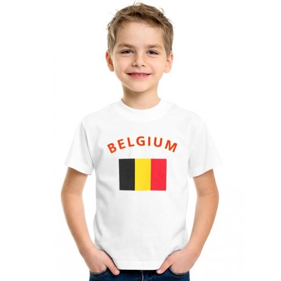 Wit kinder t-shirt Belgie
