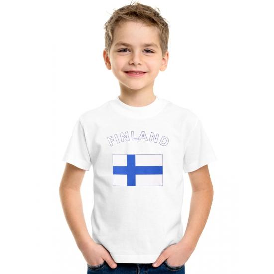 Wit kinder t-shirt Finland