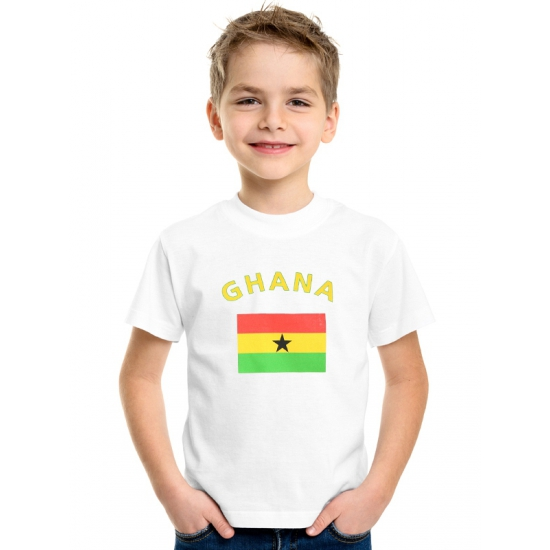 Wit kinder t-shirt Ghana