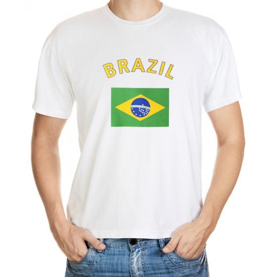 Wit t-shirt Brazilie heren
