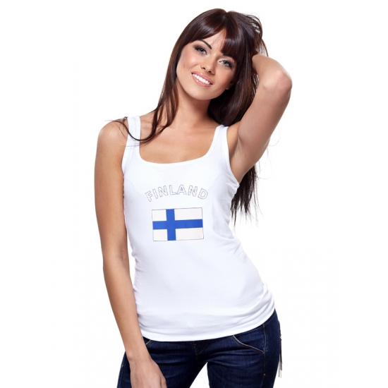 Witte dames tanktop Finland