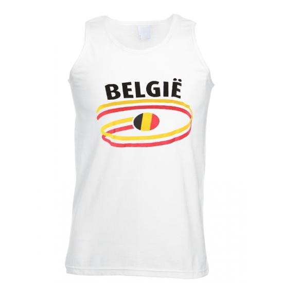 Witte heren tanktop Belgie