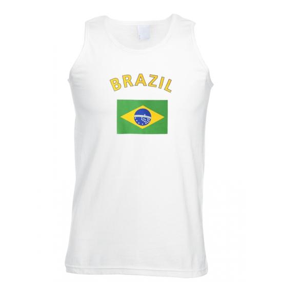 Witte heren tanktop Brazilie