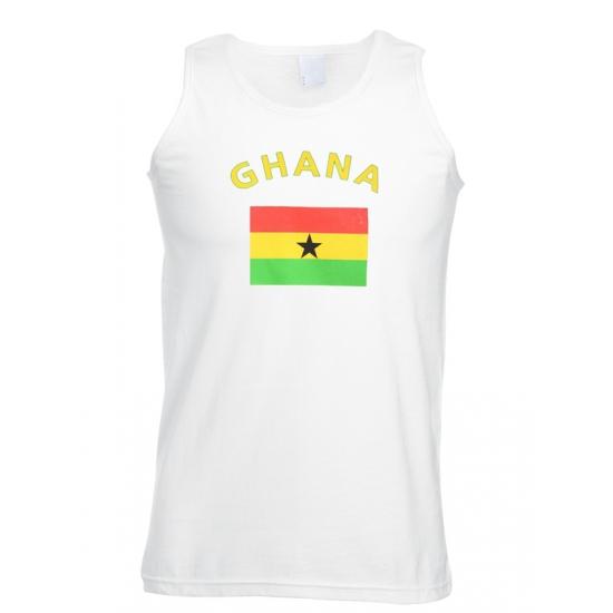 Witte heren tanktop Ghana