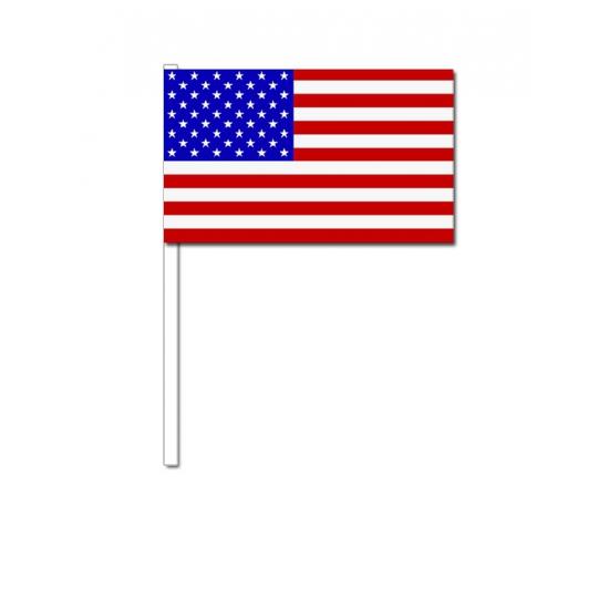Zwaaivlaggetje Amerika 12 x 24 cm