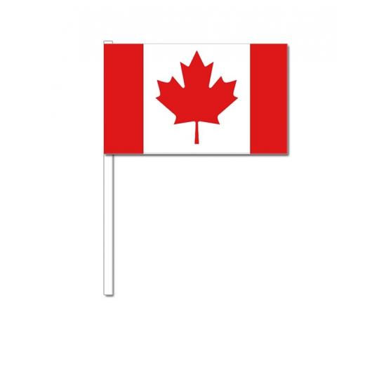 Zwaaivlaggetjes Canada 12 x 24 cm