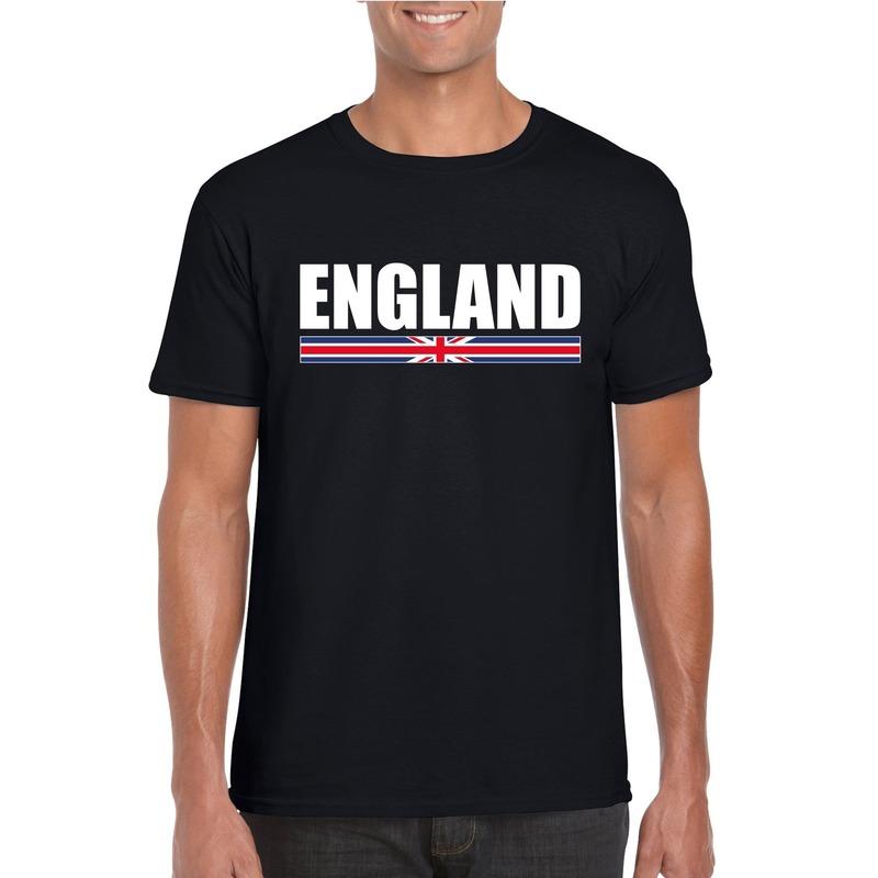 Zwart Engeland supporter t-shirt voor heren